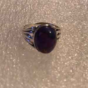 Vintage 925 purple copper ring